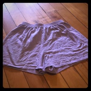 Purple stretchy comfy shorts